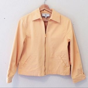 ST JOHN yellow zip up jacket lightweight sport
